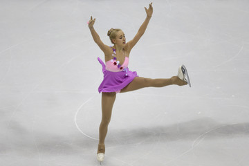 Bock of Germany performs during the ladies short program at the ISU European Figure Skating Championship in Bratislava