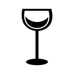 wine glass in trendy flat style vector illustration graphic design