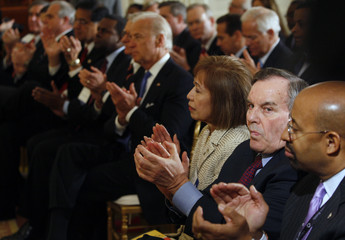 Chicago Mayor Daley is pictured in the audience during the Mayors Conference at the White House in Washington