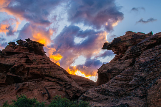 Sunrise in Snow Canyon