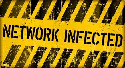 network infection,computer virus alert sign, vector illustration