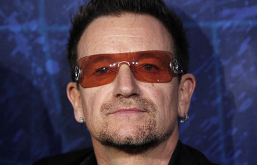 "Bono of U2 arrives at the Broadway opening of ""Spider-Man: Turn Off The Dark"" in New York"