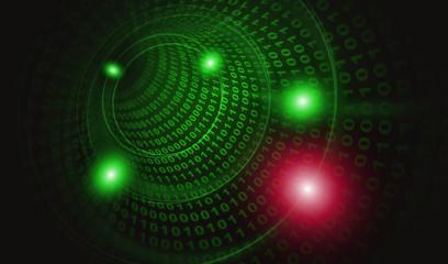 サイバー攻撃ウイルス感染1:赤緑色