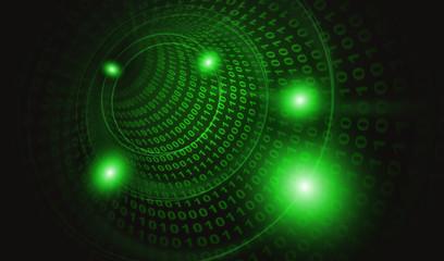 サイバー攻撃ウイルス感染3:緑色