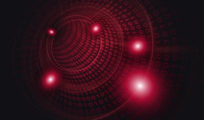 サイバー攻撃ウイルス感染5:赤色