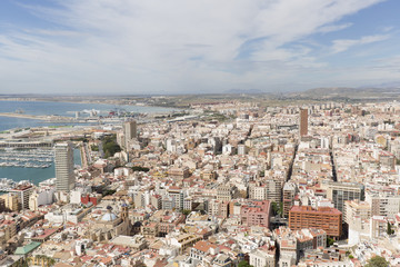 Views of the port of the city of Alicante