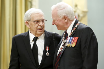 Grant poses with Johnston after being awarded the Order of Canada in Ottawa