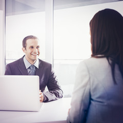 Candidate at Job Interview