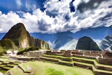 Machu Picchu- Peinture
