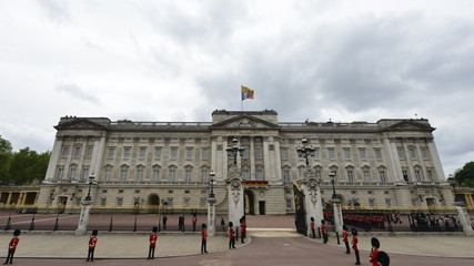 A view shows Buckingham Palace, where Queen Elizabeth and the royal family will appear on its balcony for the jubilee finale, in London