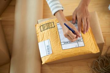 Writing address