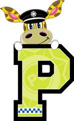 P is for Police - Giraffe