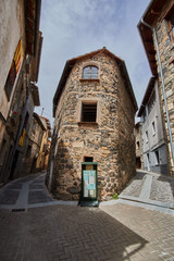 Castellfollit de la Roca village in Girona, Spain