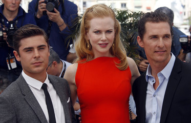 "Cast members Kidman, McConaughey and Efron pose during a photocall for the film ""The paperboy "" by director Daniels in competition at the 65th Cannes Film Festival"