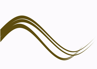 gold wave with white color background , abstact