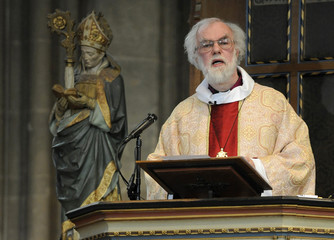 Britain's Archbishop of Canterbury Williams leads the Easter Day Eucharist service at Canterbury Cathedral in south east England