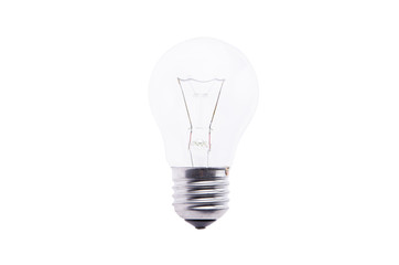 Electric lamp lies on a white background