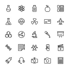 Science and Technology Line Vector Icons 1