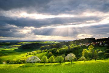 Zauberhafte Landschaft im Frühling