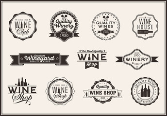 Set of logos for its wine business