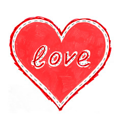 """Abstract heart with """"Love"""""""