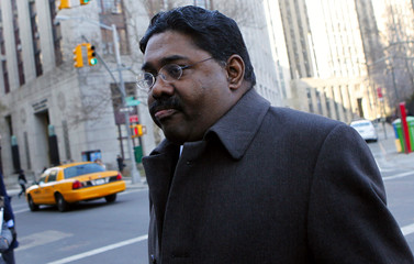 Rajaratnam, the principal in the $21 million Galleon Group hedge-fund insider trading case, arrives for a bail hearing on conspiracy and securities fraud charges in New York