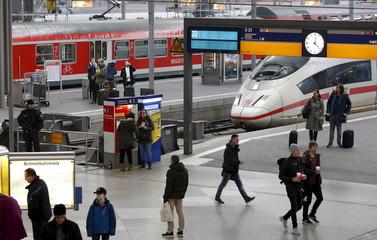 German police secure main train station in Munich