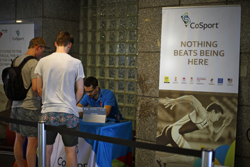 People buy tickets from CoSport office at Mourisco Business Centre in Rio de Janeiro