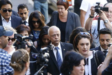 Prakash Dewani, father of honeymoon murder accused Shrien Dewani, arrives at court for the start of his son's trial in Cape Town