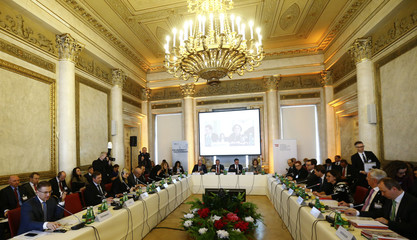 "A general view of the conference ""Managing Migration Together"" with ministers from Austria and the Balkans region in Vienna"