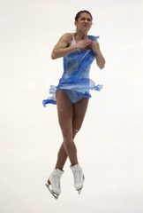 Czisny of the U.S. performs during the ladies free skating competition at the ISU Four Continents Figure Skating Championships in Taipei