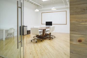 Interior of board room at office