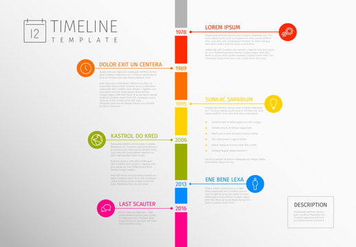 Colorful Vertical Timeline Infographic 1