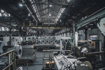 Interior of steel industry