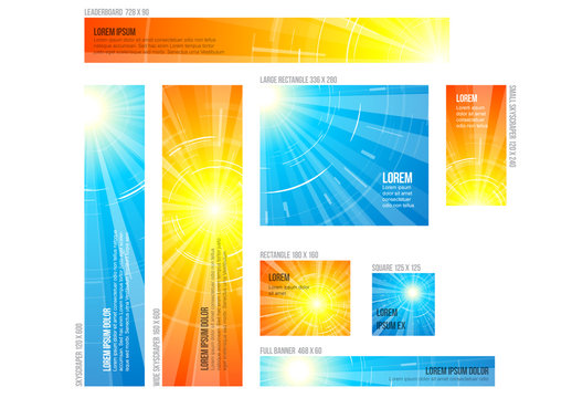 Eight Summer Web Banner Layouts