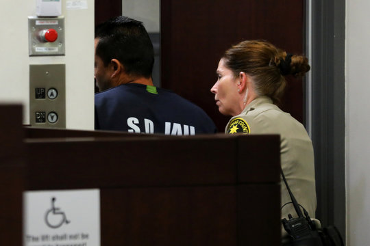 Mexican national Constantino Banda-Acosta is escorted from San Diego County Superior Court in Chula Vista