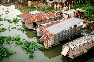 Houseboats on the mekong