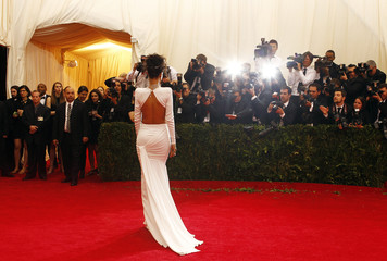 Rihanna arrives at the Metropolitan Museum of Art Costume Institute Gala Benefit in New York
