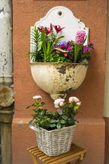 Blumentopf Wandschmuck