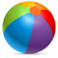 Fotorolgordijn Bol Colorful beach ball vector illustration.