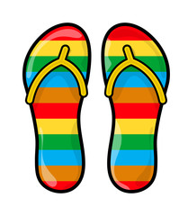 flip flops, slippers vector symbol icon design.