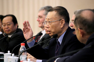 Huang Jiefu, Director of China National Organ Donation and Transplantation Committee, attends a news conference in Beijing