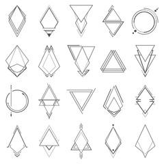 Set of minimalistic geometric elements
