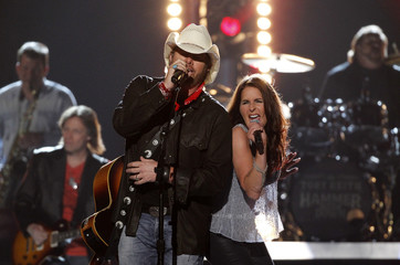 """Toby Keith performs """"Shut Up and Hold On"""" at the 49th Annual Academy of Country Music Awards in Las Vegas"""