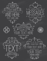 Chalkboard Flourish Frames and Labels Two