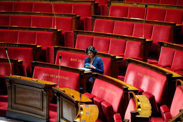 French Labour Minister Myriam El Khomri is seen before the questions to the government session at the National Assembly in Paris