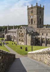 St. Davids cathedral in South Wales in the smallest city, of the same name, in Grear Britain.
