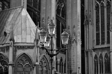 Details of the Gothic and medieval cathedral (Saint-Etienne of Metz)