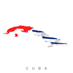 Isolated map of Cuba