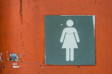 Women bathroom sign